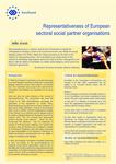 Representativeness of European sectoral social partner organisations (info sheet)