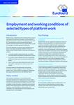 Condições de trabalho e de emprego em determinados tipos de trabalho através de plataformas em linha