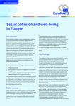 Coesione sociale e benessere in Europa