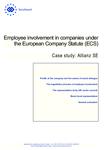 Employee involvement in companies under the European Company Statute (ECS): Allianz SE