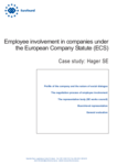 Employee involvement in companies under the European Company Statute (ECS): Hager SE