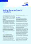 Cambiamento sociale e fiducia nelle istituzioni