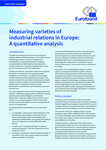 Measuring varieties of industrial relations in Europe: A quantitative analysis - Executive summary