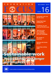 Foundation Focus - Sustainable work: Toward better and longer working lives