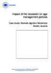 Impact of the recession on age management policies - Case study: Borealis Agrolinz Melamine GmbH, Austria