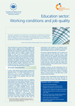 Education sector: Working conditions and job quality