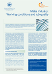 Metal industry: Working conditions and job quality