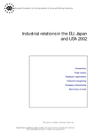 Industrial relations in the EU, Japan and USA 2002 (report)