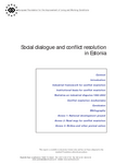Social dialogue and conflict resolution in Estonia (report)