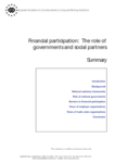 Financial participation: The role of governments and social partners (summary)