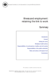 Illness and employment: retaining the link to work (conference summary)