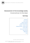 Advancement of the knowledge society: Comparing Europe, the US and Japan (summary)