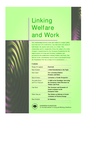 Linking welfare and work