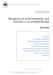 Perceptions of social integration and exclusion in an enlarged Europe (summary)