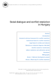 Social dialogue and conflict resolution in Hungary (report)