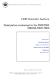 Social partner involvement in the 2002/2003 National Action Plans