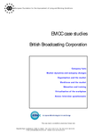 Case studies in the graphics and media sector - British Broadcasting Corporation