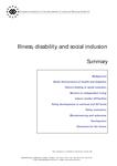 Illness, disability and social inclusion (summary)
