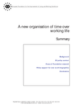 A new organisation of time over working life (summary)