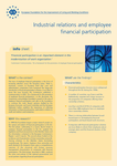 Industrial relations and employee financial participation (info sheet)