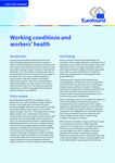 Working conditions and workers' health - Executive summary