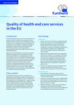 Quality of health and care services in the EU - Executive summary