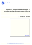 Impact of interfirm relationships - employment and working conditions - A literature review