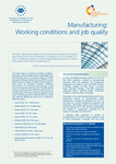 Manufacturing: Working conditions and job quality