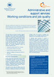 Administrative and support services: Working conditions and job quality