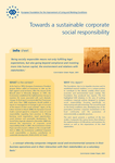 Towards a sustainable corporate social responsibility (info sheet)