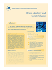 Illness, disability and social inclusion (info sheet)