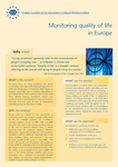 Monitoring quality of life in Europe (info sheet)