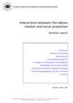 Interactions between the labour market and social protection (seminar report)