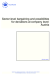 Sector-level bargaining and possibilities for deviations at company level: Austria