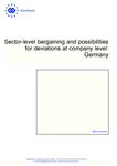 Sector-level bargaining and possibilities for deviations at company level: Germany