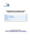 Representativeness of the European social partner organisations: Sugar manufacturing sector
