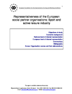 Representativeness of the European social partner organisations: Sport and active leisure industry