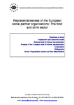 Representativeness of the European social partner organisations: The food and drink sector