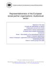 Representativeness of the European social partner organisations: Audiovisual sector