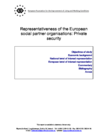 Representativeness of the European social partner organisations: Private security