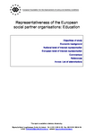 Representativeness of the European social partner organisations: Education