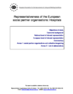 Representativeness of the European social partner organisations: Hospitals