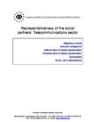 Representativeness of the European social partner organisations: Telecommunications sector