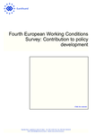 Fourth European Working Conditions Survey: Contribution to policy development