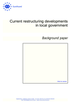 Current restructuring developments in local government - Background paper
