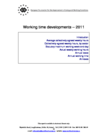 Working time developments – 2011