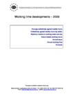 Working time developments – 2009