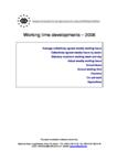 Working time developments – 2006