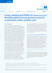 Living, working and COVID-19 (Update April 2021): Mental health and trust decline across EU as pandemic enters another year