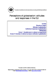 Perceptions of globalisation: attitudes and responses in the EU